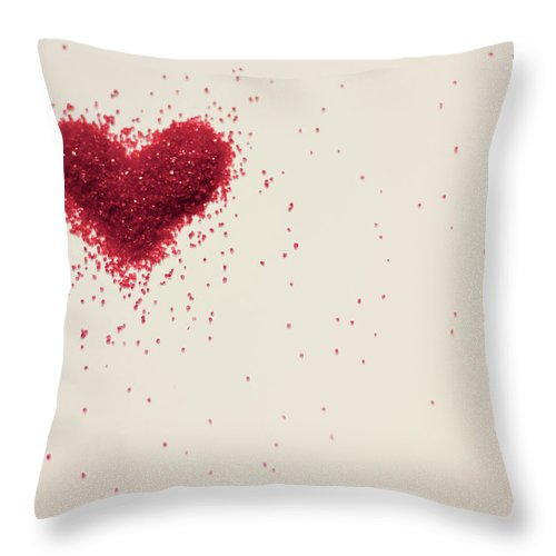 Art Throw Pillow featuring the photograph Sugar Heart by Amy Weekley