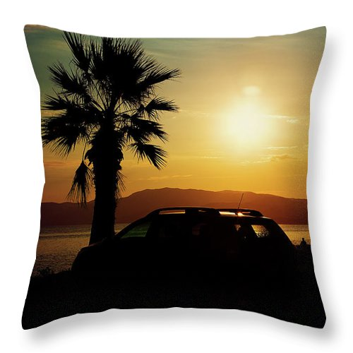 Landscape Throw Pillow featuring the photograph Summer Life by Milena Ilieva