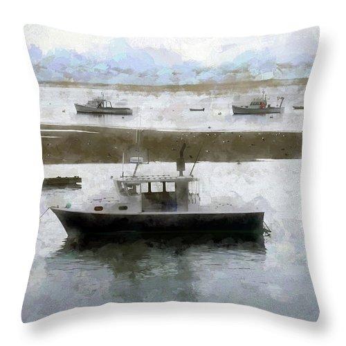 Throw Pillow featuring the digital art Summer On Cape Cod Xxxii by Tina Baxter
