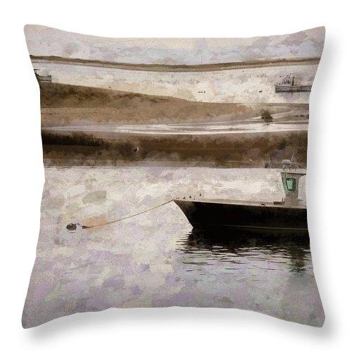 Throw Pillow featuring the digital art Summer On Cape Cod Xxxiii by Tina Baxter