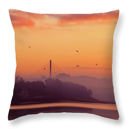 Scenics Throw Pillow featuring the photograph Sunrise by All Images Taken By Keven Law Of London, England.