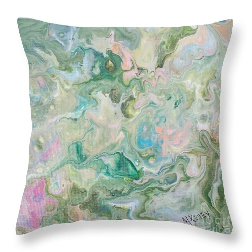 Throw Pillow featuring the painting Sunrise In The Garden by Marsha McAlexander