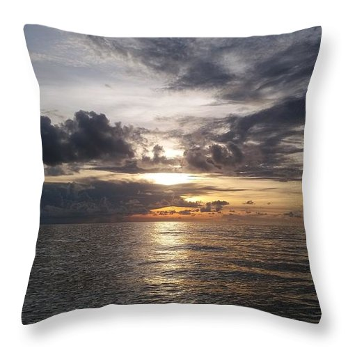 Sunset Throw Pillow featuring the photograph Sunset by Cora Jean Jugan