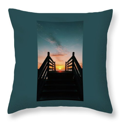 Sunset Throw Pillow featuring the photograph Sunset Magic by Jaylee Coates