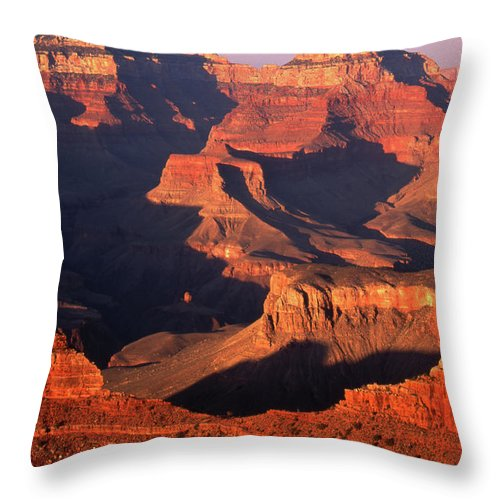 Toughness Throw Pillow featuring the photograph Sunset Over Grand Canyon by By Tiina Gill