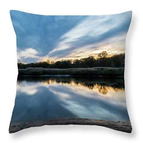 Sunset Throw Pillow featuring the photograph Sunset Reflections by Kaitlyn Casso