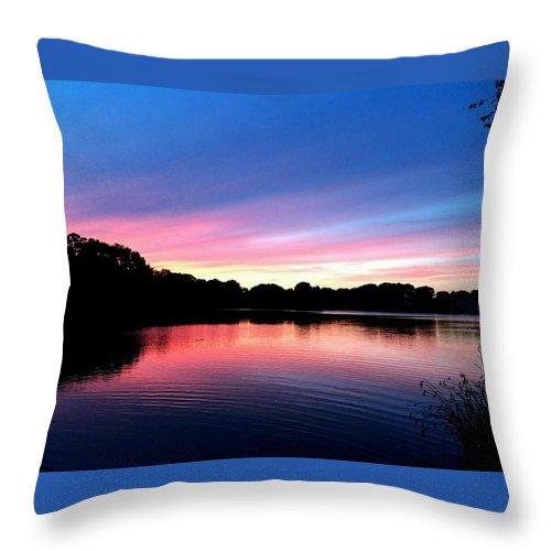 Throw Pillow featuring the photograph Sunset by Zach Meyer
