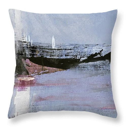 Color Throw Pillow featuring the painting Sunshine Sail 300 by Sharon Williams Eng