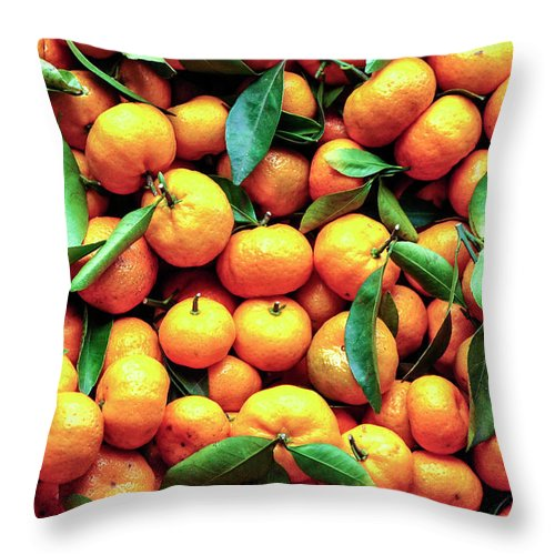 Orange Throw Pillow featuring the photograph Sweet Oranges by Gabriel Perez