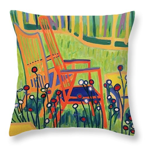 Summer Throw Pillow featuring the painting Sweet Peace by Debra Bretton Robinson