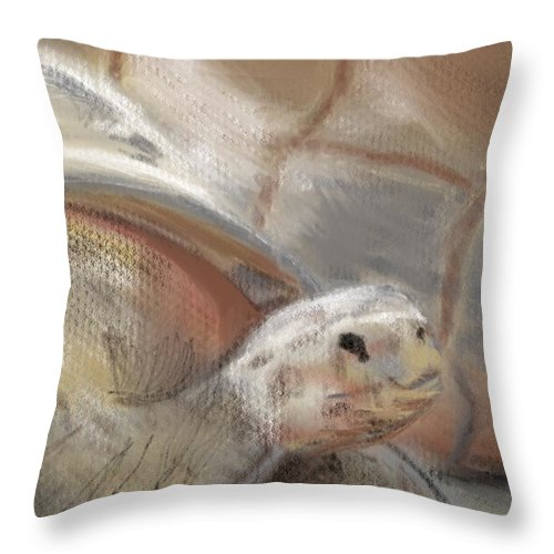 Tortoise Throw Pillow featuring the digital art Sweet Tortoise by Fe Jones