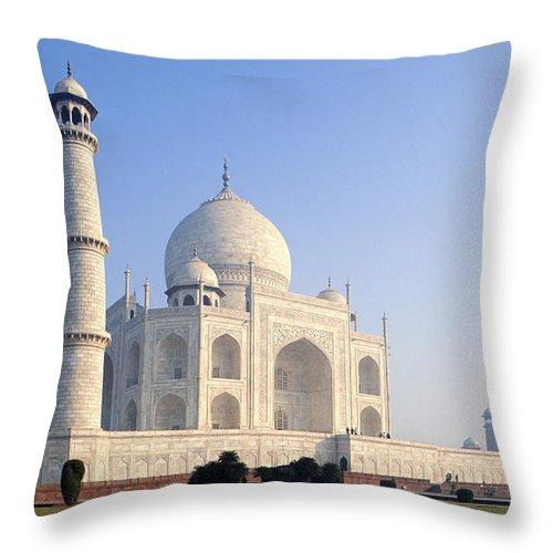 Scenics Throw Pillow featuring the photograph Taj Mahal, Agra, Uttar Pradesh, India by Frans Lemmens