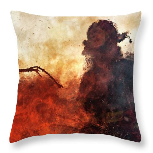 Fire Throw Pillow featuring the photograph Tame The Flames by Everet Regal