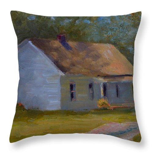 Kentucky Throw Pillow featuring the painting Tay's Cottage by Roger Snell