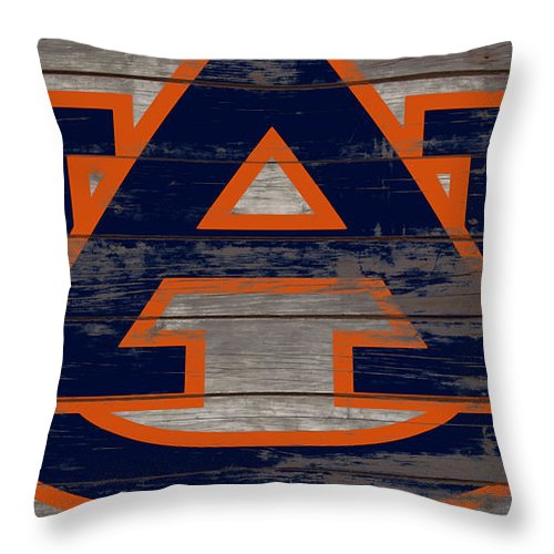 Auburn Tigers Throw Pillow featuring the mixed media The Auburn Tigers 5a by Brian Reaves
