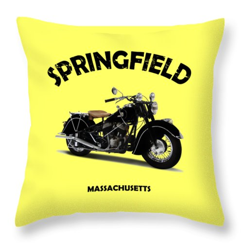 Indian Chief 1946 Throw Pillow featuring the photograph The Chief 1946 by Mark Rogan