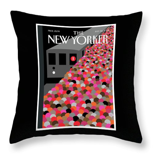 The Commute Throw Pillow featuring the painting The Commute by Christoph Niemann