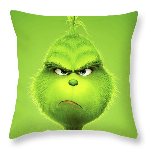 The Grinch 2018 B Throw Pillow For Sale By Movie Poster Prints