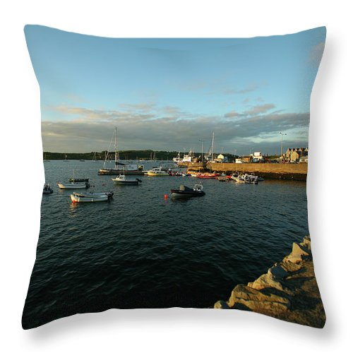 Sailboat Throw Pillow featuring the photograph The Harbor At Baltimore, Ireland by David Epperson