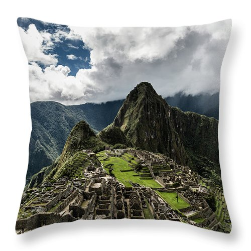 Scenics Throw Pillow featuring the photograph The Inca Trail, Machu Picchu, Peru by Kevin Huang