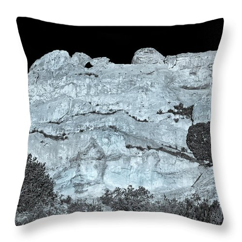 The Kissing Camels Rock Formation Throw Pillow featuring the photograph The One Who Falls And Gets Up Is Stronger Than The One Who Never Fell. by Bijan Pirnia