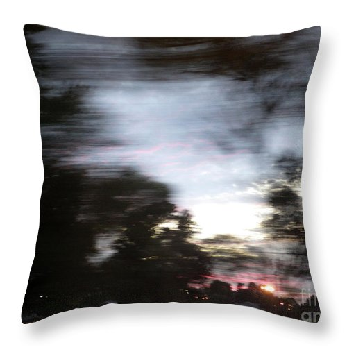 Motion Throw Pillow featuring the photograph The Passenger 01 by Joseph A Langley