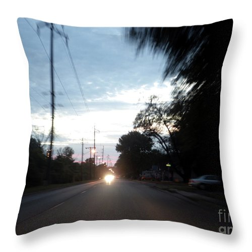 Motion Throw Pillow featuring the photograph The Passenger 05 by Joseph A Langley