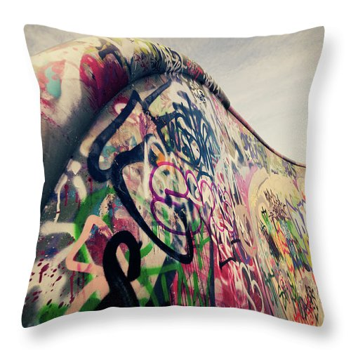 Orange Color Throw Pillow featuring the photograph The Ramp by Ppampicture