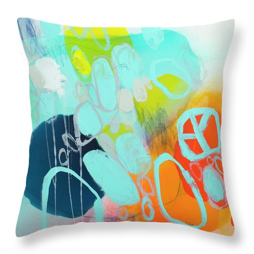 Abstract Throw Pillow featuring the painting The Right Thing by Claire Desjardins