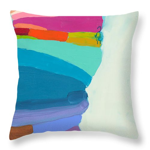 Abstract Throw Pillow featuring the painting The Right Timing by Claire Desjardins