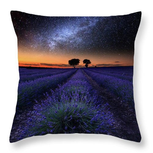 Night Throw Pillow featuring the photograph The Rise Of Dawn by Jorge Maia