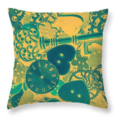 Clockwork Throw Pillow featuring the photograph The Tme, The Place by Jorgo Photography - Wall Art Gallery