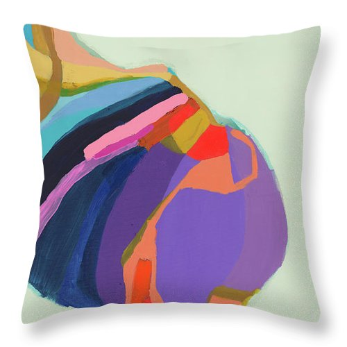 Abstract Throw Pillow featuring the photograph The Waiting Game by Claire Desjardins
