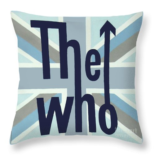The Who Throw Pillow featuring the painting The Who by Amy Belonio