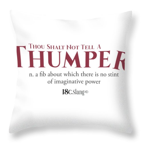 America Throw Pillow featuring the digital art Thou Shalt Not Tell A Thumper by 18th Century Slang