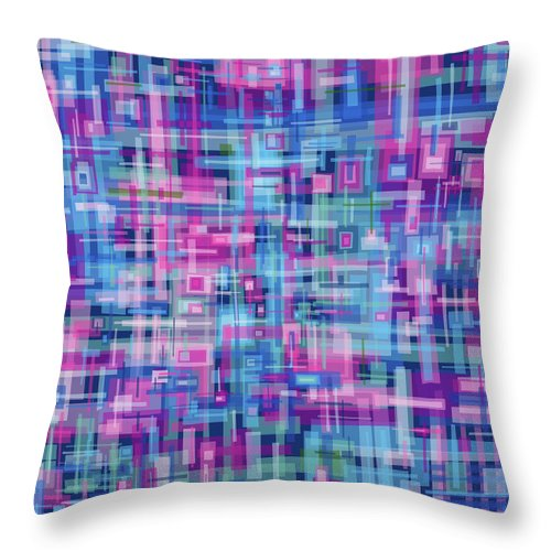 Nonobjective Throw Pillow featuring the digital art Thought Patterns #4 by James Fryer