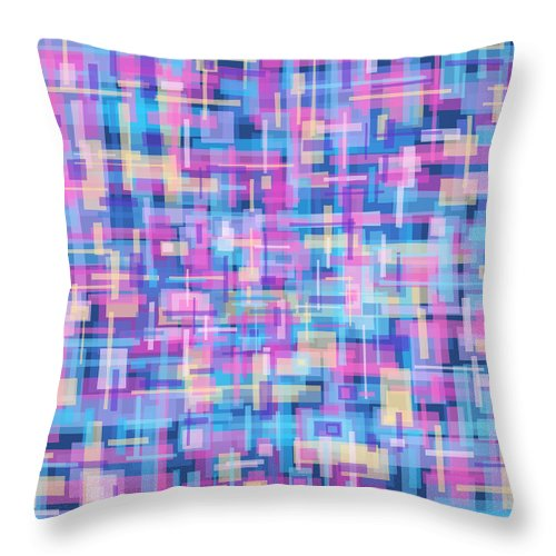 Nonobjective Throw Pillow featuring the digital art Thought Patterns #5 by James Fryer
