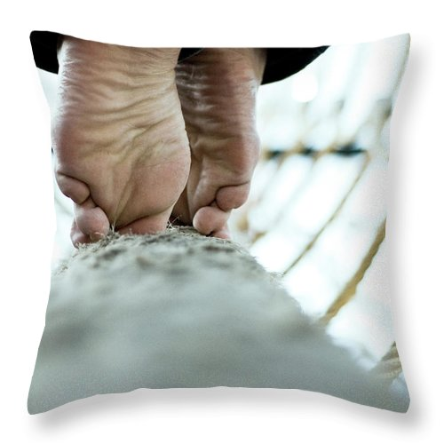 People Throw Pillow featuring the photograph Tight Rope by Www.flickr.com/photos/persnicketydame