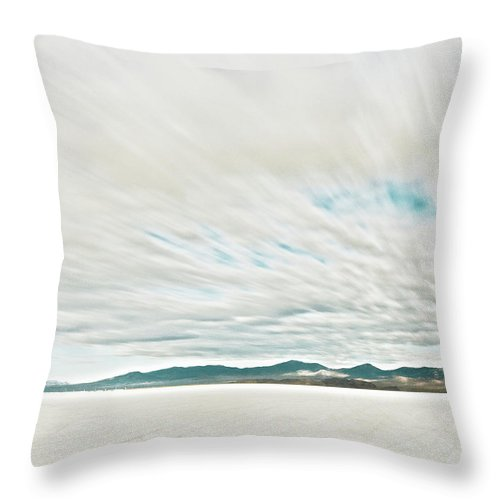Tranquility Throw Pillow featuring the photograph Time Exposure Clouds In Motion Above by Andy Ryan