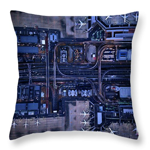 Outdoors Throw Pillow featuring the photograph Tokyo International Airporthaneda by Michael H