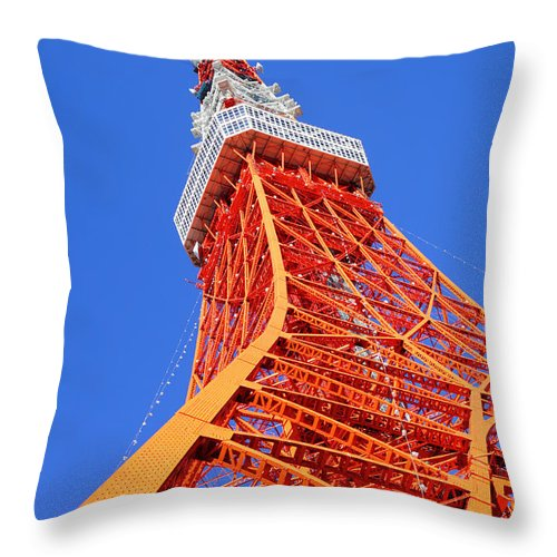 Tokyo Tower Throw Pillow featuring the photograph Tokyo Tower by Ngkaki