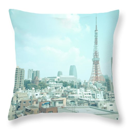 Tokyo Tower Throw Pillow featuring the photograph Tokyo Tower by Shigeto Sugita