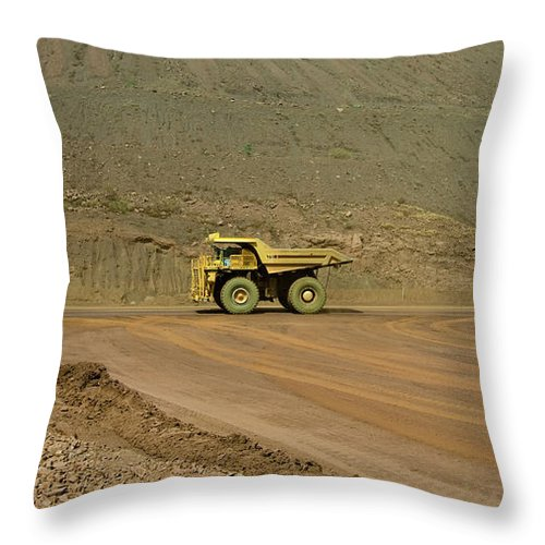 Southern Hemisphere Throw Pillow featuring the photograph Tom Price Earthmover by Samvaltenbergs