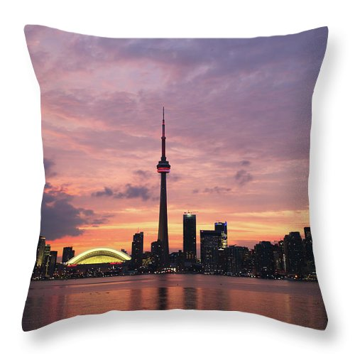 Lake Ontario Throw Pillow featuring the photograph Toronto by Js`s Favorite Things