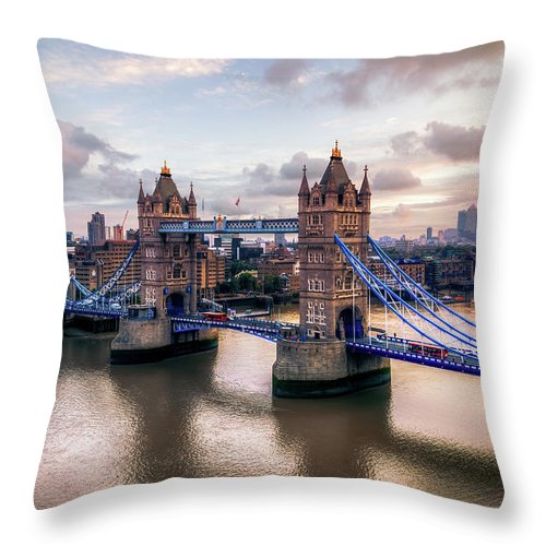 England Throw Pillow featuring the photograph Tower Bridge Taken From City Hall by Joe Daniel Price