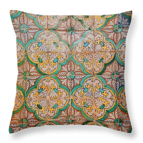 Catalonia Throw Pillow featuring the photograph Traditional Hand Made And Decorated by Tracy Packer Photography
