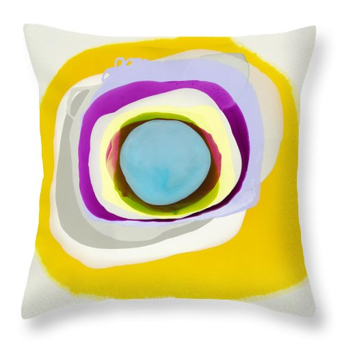 Abstract Throw Pillow featuring the photograph Tranquil by Claire Desjardins