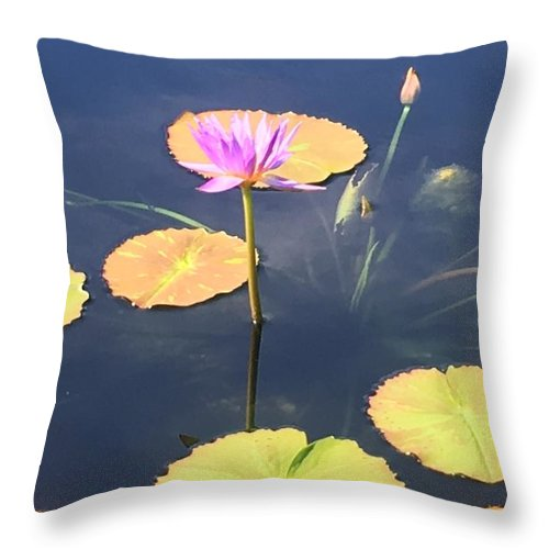 Throw Pillow featuring the photograph Tranquil by Gewanda Parker