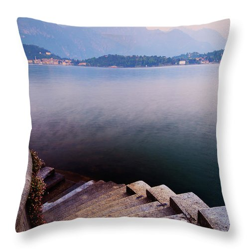 Tranquility Throw Pillow featuring the photograph Tranquil by John And Tina Reid