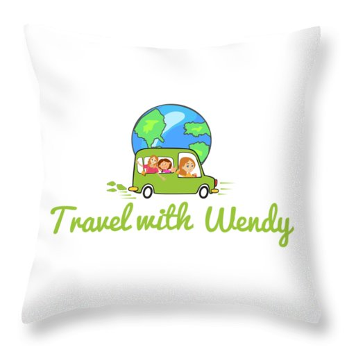Travel With Wendy Throw Pillow featuring the photograph Travel With Wendy by Wendy Payne Travel Writer